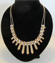 Authentic Retired J.Crew Cleopatra Style Crystal Rhinestone & Gold Necklace - $49.95