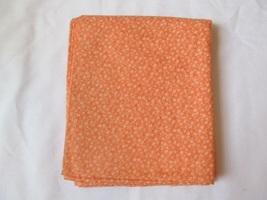 Orange & Light Orange Small Scale Floral Quilting Fabric JoAnn Fabrics 1.5 Yards - $14.50