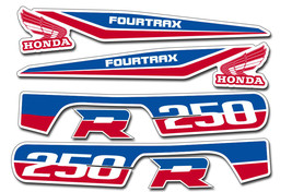 ATV Graphics Kit OEM Decals Replacement Stickers For Honda TRX250R Fourtrax USA - $49.95
