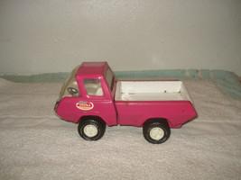 """Vintage Tonka Pink Truck Toy Pickup 1970's Pressed Steel 8 1/2"""" - $29.69"""