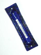 Murano Glass Handmade Mezuzah Case 10 cm w Scroll Dark Blue Murrina Italy image 2