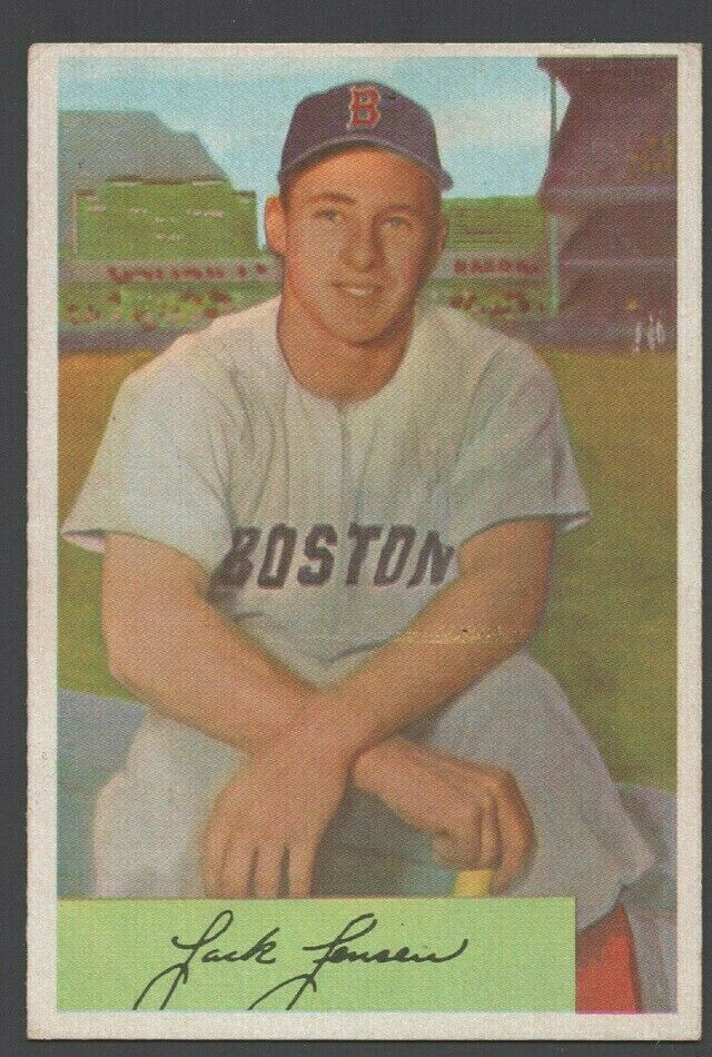 Primary image for Boston Red Sox Jack Jensen 1954 Bowman Baseball Card 2 vg+