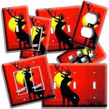 WHITETAIL DEER SUNRISE LIGHT SWITCH OUTLET WALL PLATE HUNTING FOREST CAB... - $8.99+