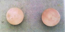 Rose Quartz Gemstone 6mm Stud Earrings - $8.02