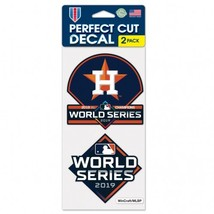"""Houston Astros 2019 American League Champions Decal 4"""" x 4"""" Set of 2 - $8.95"""