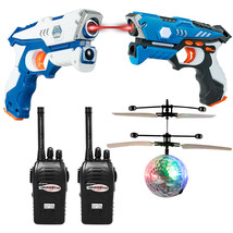 Infrared Laser Tag Guns Game with 2 Walkie Talkies & Flying - $58.79