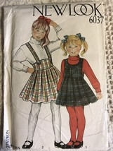 Vtg Simplicity New Look 6037 Girl's Jumper, Dress Size: 3-10 Sewing Pattern - $15.95