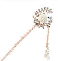 Classical European Style Wheat Flower Hairpin Metal Rhinestones Hair Decoration