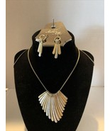 """Amber's Allie 30"""" Silver and gold plated Neckless with Matching Earrings - $24.14"""