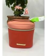 Michael Kors Cosmetic Bag ZIP Coral Pink Top Handle  Promotional Item M7 - $39.19