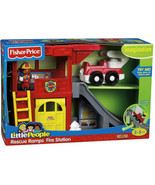 Fisher Price Little People Rescue Ramps Fire Station P3331 - New - $61.63