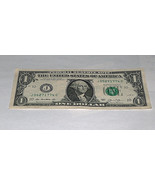 2013 One Dollar Bill US Note Date May 27 1774 05271774 Fancy Serial Number - $14.09