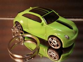 2012 VW Beetle Key Chain Ring Volkswagen Green - $15.19