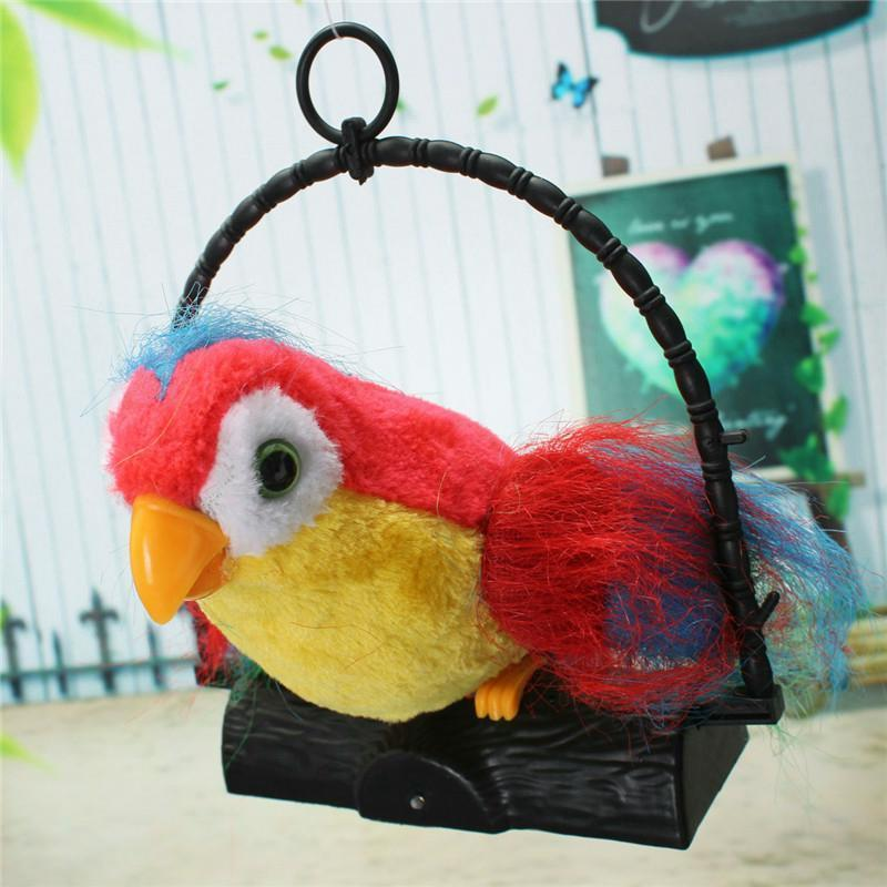 Talking Parrot Toy Funny Repeating Imitating What You Say New Kid Xmas Gift Pets