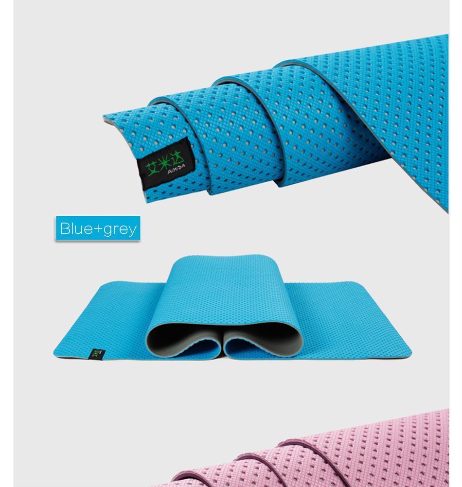 Honeycomb Yoga Mat Thick Non Slip Breathability Fitness Gym Sports Pilates Pad