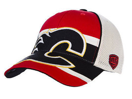 CALGARY FLAMES - OLD TIME HOCKEY NHL ECLIPSE HOCKEY CAP HAT- ONE SIZE FI... - $18.04