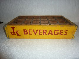 Vintage JK Beverages Wooden Soda Crate - $24.18
