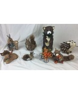 Pier 1 Natural Bear Hedgehog Squirrel Sisal Forest Animal Lot CUTE - $37.39