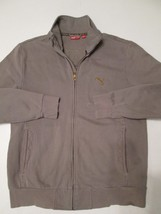 Vintage Puma Mens Jacket Size Medium Olive Color Stitched Embroidery Back #A2 - $49.99