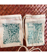Lavender sachets Teal Green Zentangle designs Set of two - $4.00