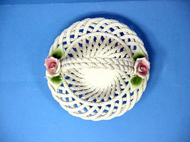 Lanzarin Ceramic Hand Made Art Pottery Basket (Italy) - $18.80
