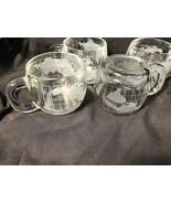 4 Nestles Glass Tea or Chocolate Cups Globes - $19.99