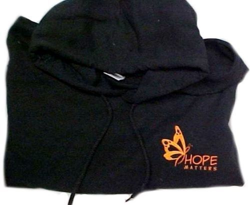 Orange Butterfly Sweatshirt 4XL Melanoma Black Hoodie Hope Matters Unisex New
