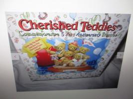 Cherished Teddies Commemorative 5 Year Anniversary Figurines Strilke Up ... - $39.99