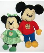 "Vintage 12"" Knickerbocker Mickey & Minnie Mickey Mouse Club Plush Dolls - $25.00"