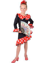 GIRLS  - Spanish Flamenco Dress  - ages 3 to 14 - $31.85