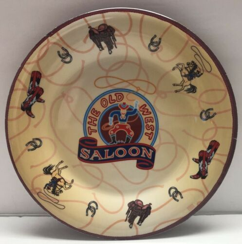Primary image for Sakura Old West Saloon Cowboy Horse Boots Melamine Plate Evolution 9.25""