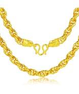 24K Pure Gold Necklace Real AU 999 Solid Gold Chain Generous Men's Faucet - $7,499.99+