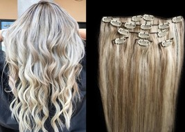 """18"""",20"""",22"""",24"""" 100% Remy Human Highlighted Hair Extensions 7Pcs Clip in #18/613 - $69.29+"""
