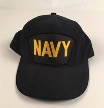 US NAVY PATCHED Cap Snap Back Hat Ship's Hatch Made In USA ADJUSTABLE  - $18.95