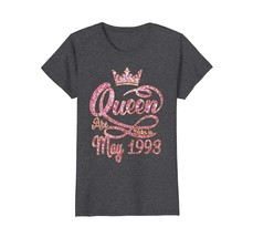 Funny Shirts - Queens born in May 1993 25th Birthday Gift 25 years old W... - $19.95