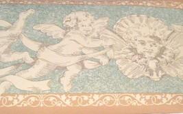 Wallpaper Border Cherubs Angels Green Marble +Tan Wall EH00170  NIP - $14.83