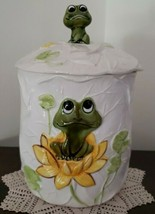 Vintage Sears Roebuck & Co. ~ 1978 ~ Cookie Jar w/Lid ~ Frog Theme - $79.20