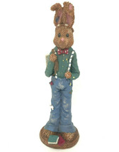 Heritage Pottery 8 Inch Easter Bunny Books Bow Tie School KA1132 - $17.99