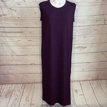 Eileen Fisher Purple Sleeveless Shirt Dress Size Small - $26.17