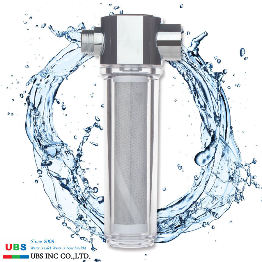 Deluxe Activated Carbon Fiber Shower filter with 2 pcs Water filters UBS INC