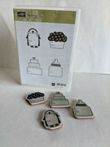 Stampin' Up!  TAG ALONGS Rubber/Cling Stamp Set Of 4 120513 - $4.94