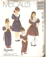 Girls Nannette Dress & Jumpsuit Sewing Pattern Sizes 4-6 McCall's 5116 U... - $5.99