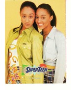 Tia and Tamera Mowry teen magazine pinup clipping Sister Sister 90's Tee... - $1.00