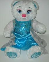 Build A Bear Disney Frozen ELSA Bear Blue Dress Plush Stuffed Animal Toy... - $18.66