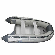 BRIS 10.8 ft Inflatable Boat  Raft Fishing Dinghy Tender Pontoon Boat Gray  image 3