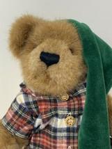 Boyds Bear Stuart McSnoozle w/ Candlestick Slippers Nightcap 2002 Stuffed Animal - $15.99