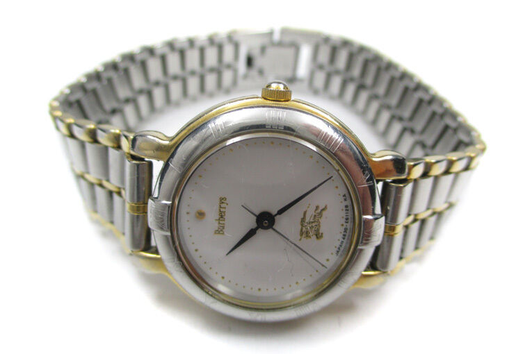 Authentic BURBERRYS White Dial Stainless Steel Women's Quartz Watch BW10570L