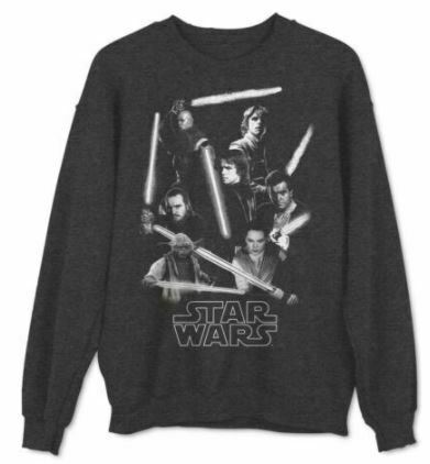 Star Wars Men's Jedi Knights Fleece Graphic Comfy Crew Sweatshirt