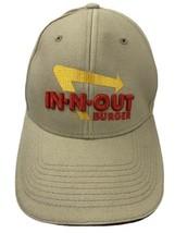 N Out Burger Fast Food Beige Adjustable Adult Ball Cap Hat - $15.13