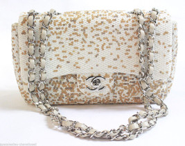 Chanel Ivory Fabric Flap Shoulder Bag Cruise Collection 2014 - $1,386.00